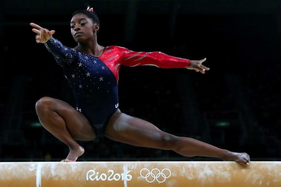 biles foi bronze na trave nos jogos olímpicos rio 2016 tóquio