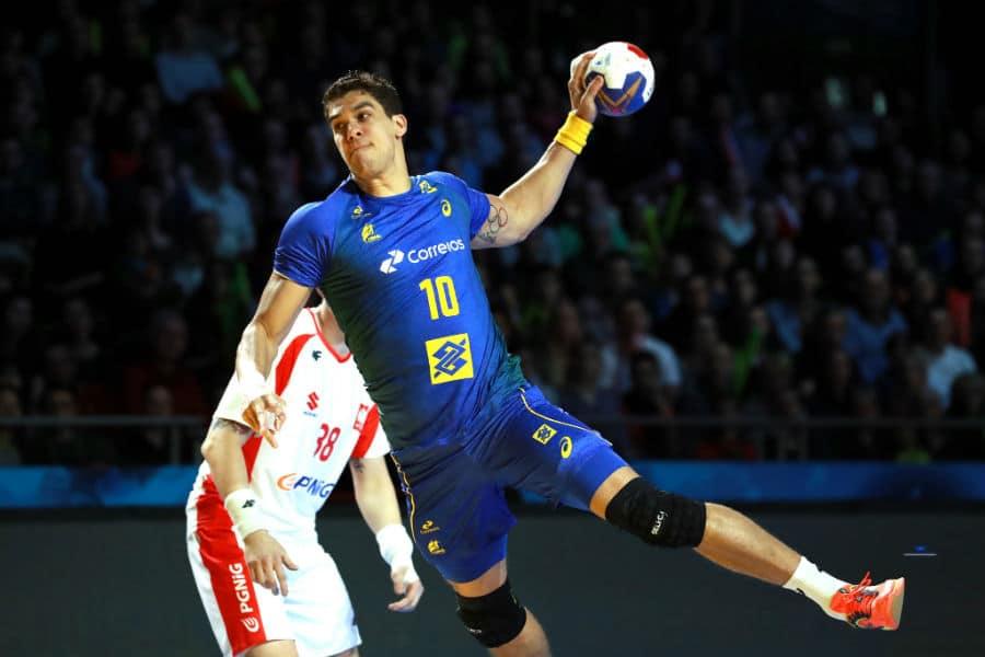 Zë Guilhemre TOledo - Wsla Pock - armador - seleção brasileira de handebol masculino - Jogos Olímpicos de Tóquio