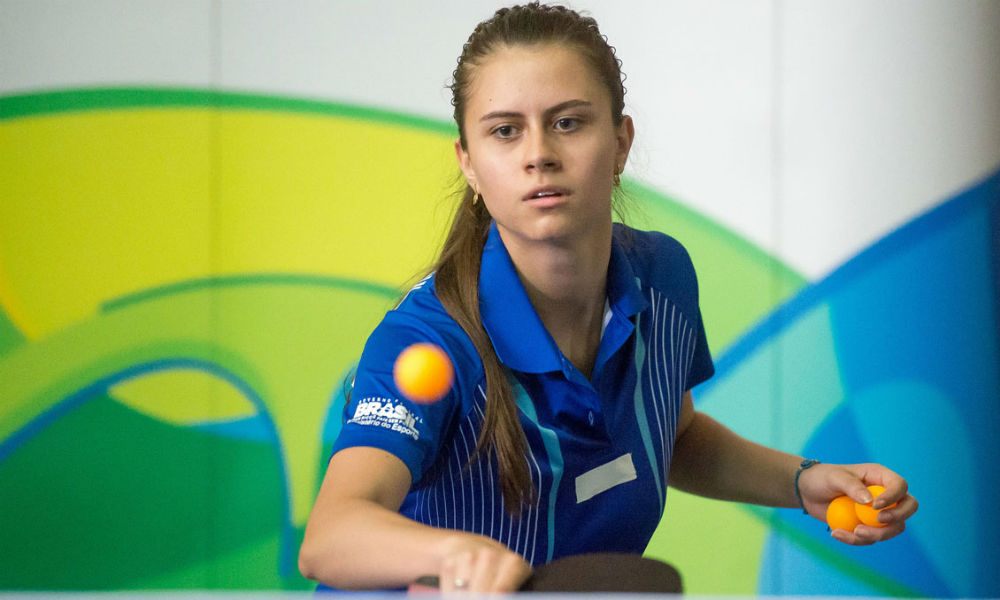 Bruna Takahashi, uma das representantes do Brasil nos Jogos Olímpicos de Tóquio 2020 (iarquivo) no tênis de mesa
