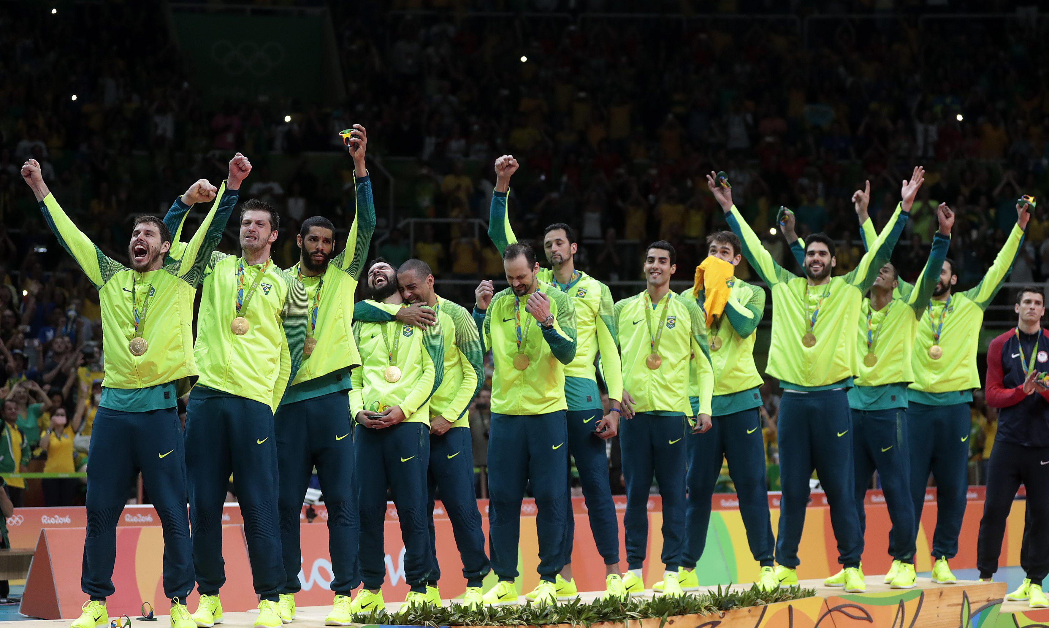 Seleção brasileira masculina de vôlei ouro na Rio-2016