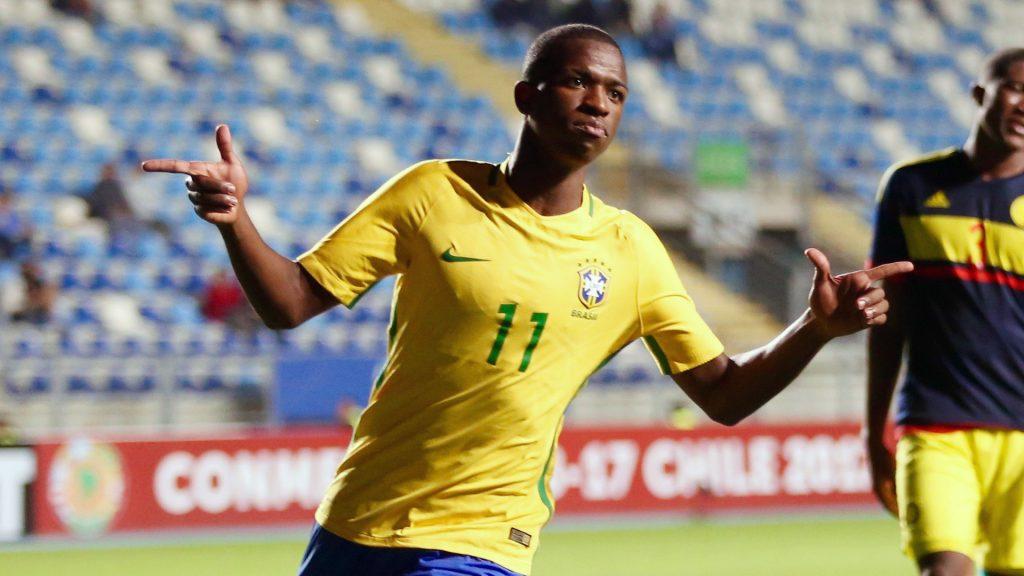 Vinicius Júnior em ação pelo seleção olímpica no Sul-Americano Sub-17
