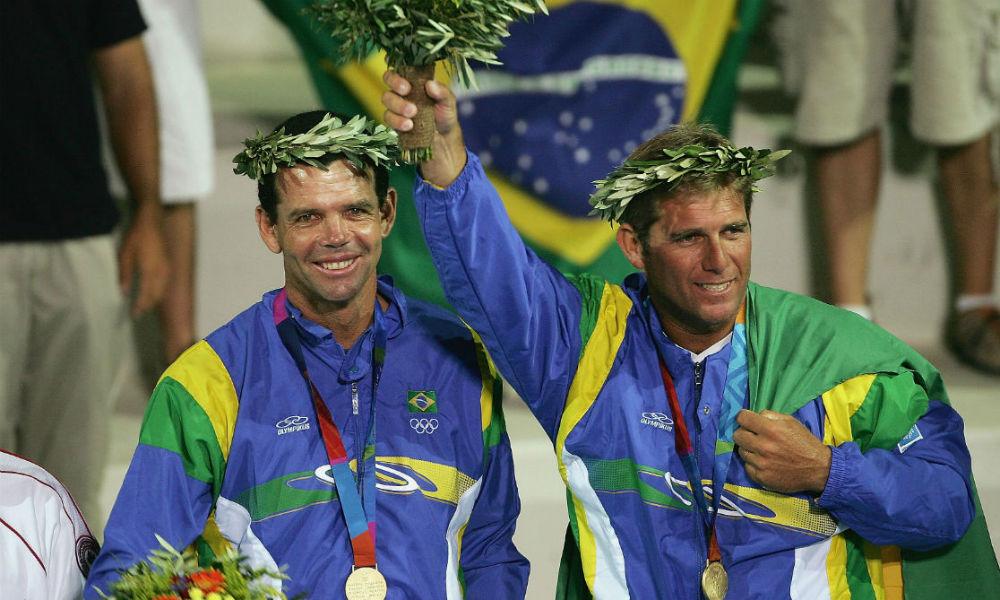 porta-bandeira do Brasil nos Jogos Olímpicos em Atenas-2004