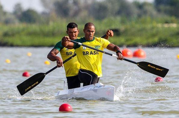 Erlon Souza e Isaquias Queiroz na prova do C2 1000 m masculino