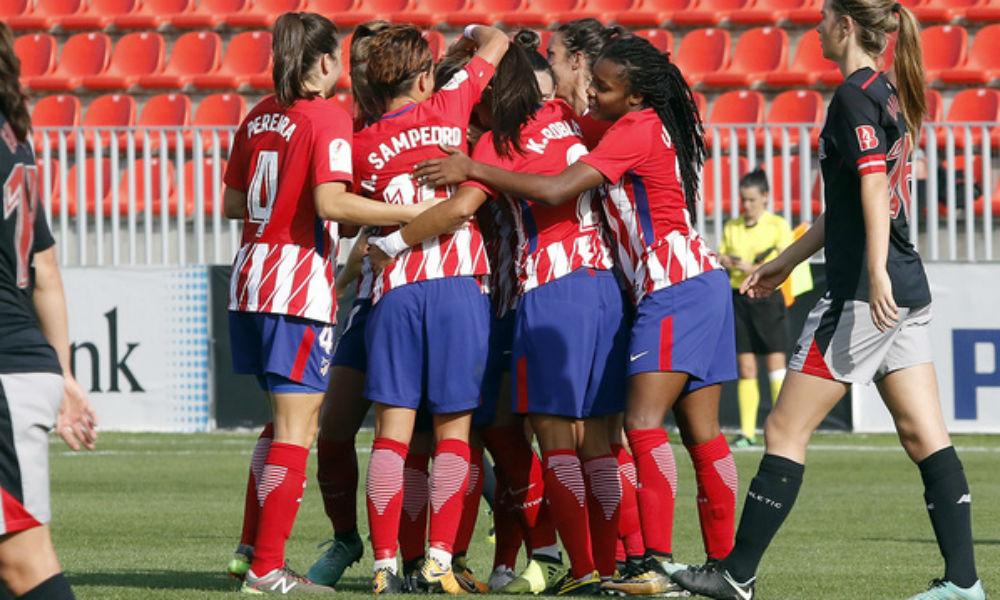 ilustração: Neste sábado (13), o Atlético de Madri venceu o Albacete por 4 a 3. A brasileira Ludmila marcou o segundo gol da partida. Confira!