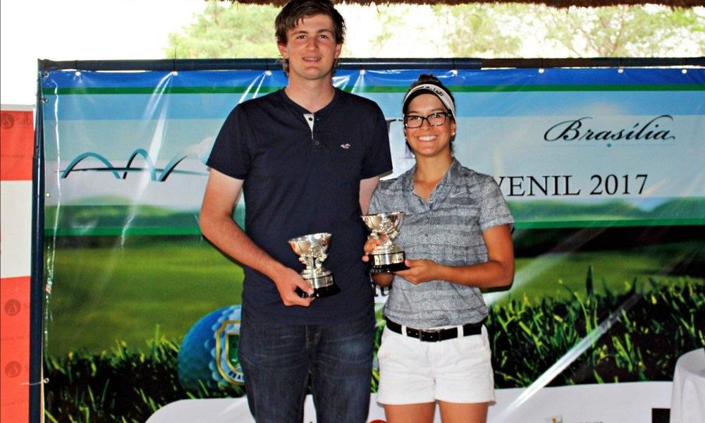 Celestino e Lauren Grinberg são campeões no Nacional Juvenil.