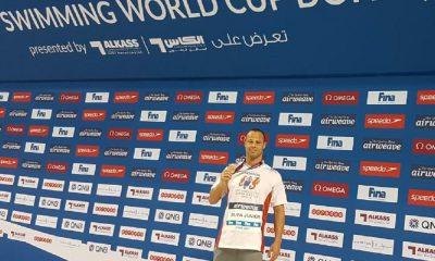 Nelson Júnior conquista bronze na Copa do Mundo de Natação.
