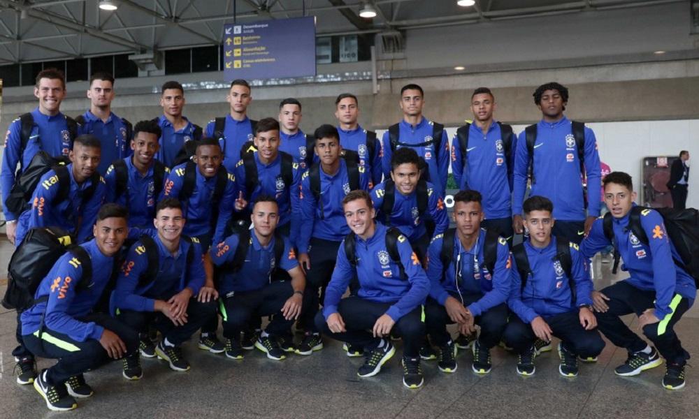 Seleção Sub-15 embarca para o Sul-Americano da Argentina.