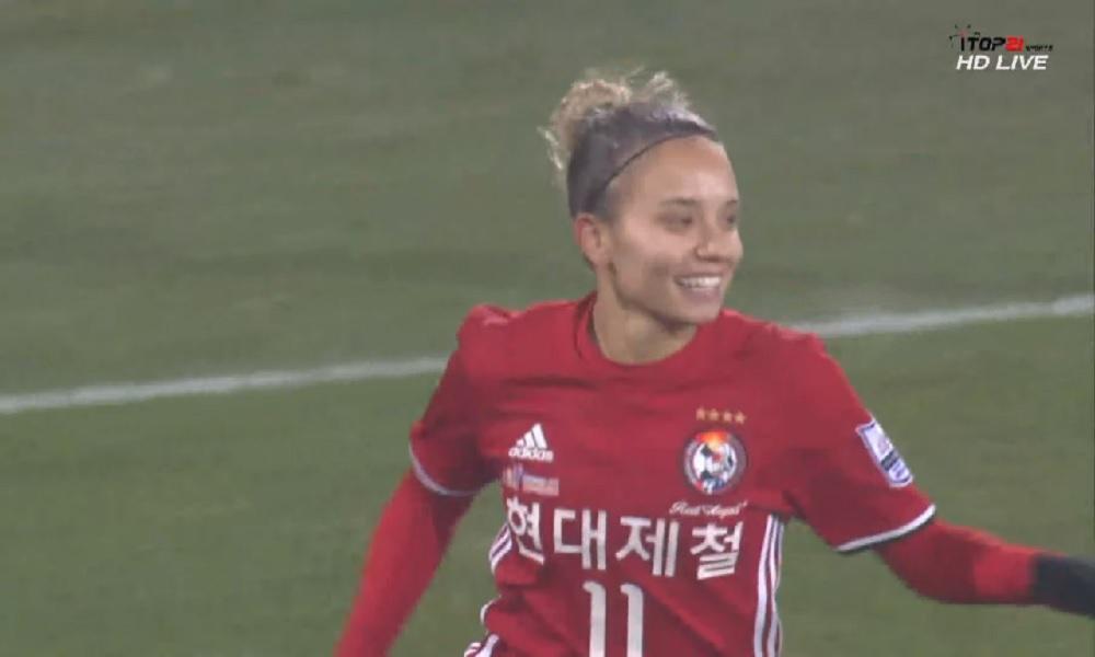 Com assistência de Thaisinha, Red Angels vence no Sul-Coreano