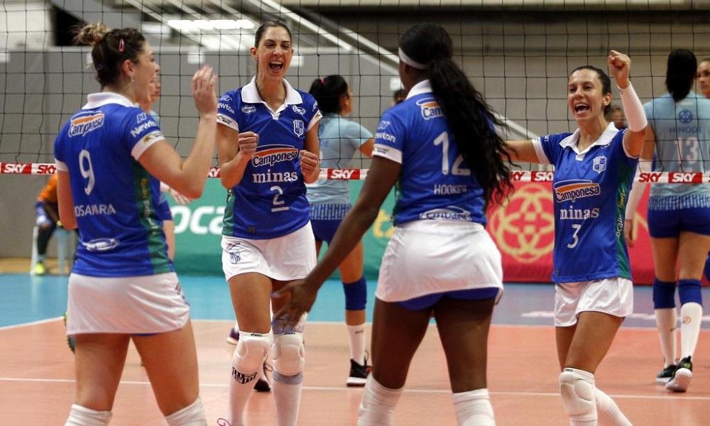 Minas x Bauru - Superliga feminina de vôlei