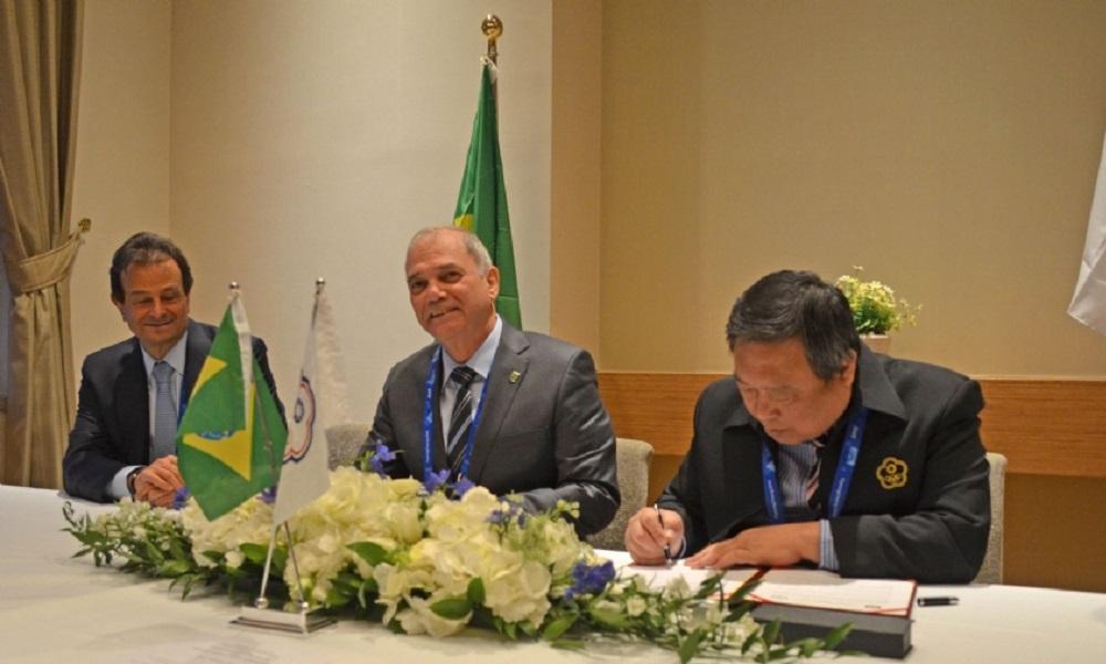 COB fecha acordo de cooperação esportiva com Taiwan