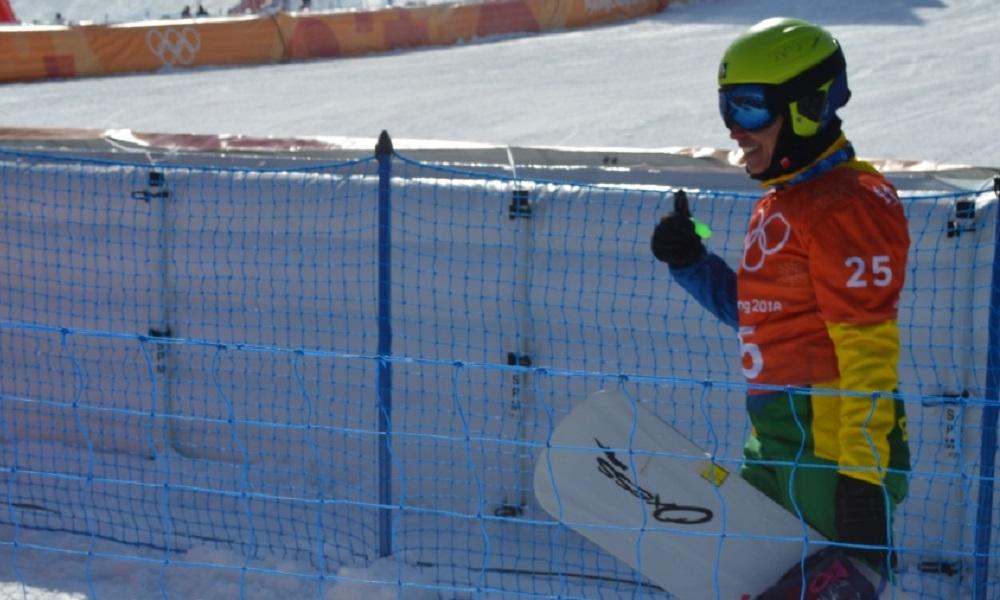 Isabel Clark faz 1º treino oficial na pista de PyeongChang