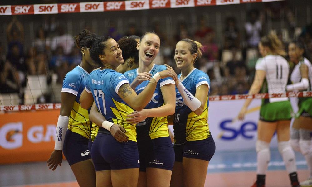 Sesc-RJ X Minas - Superliga feminina de vôlei