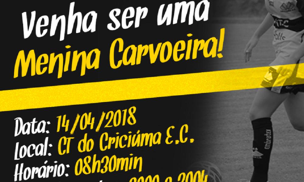 Criciúma promove avaliação para time feminino de futebol
