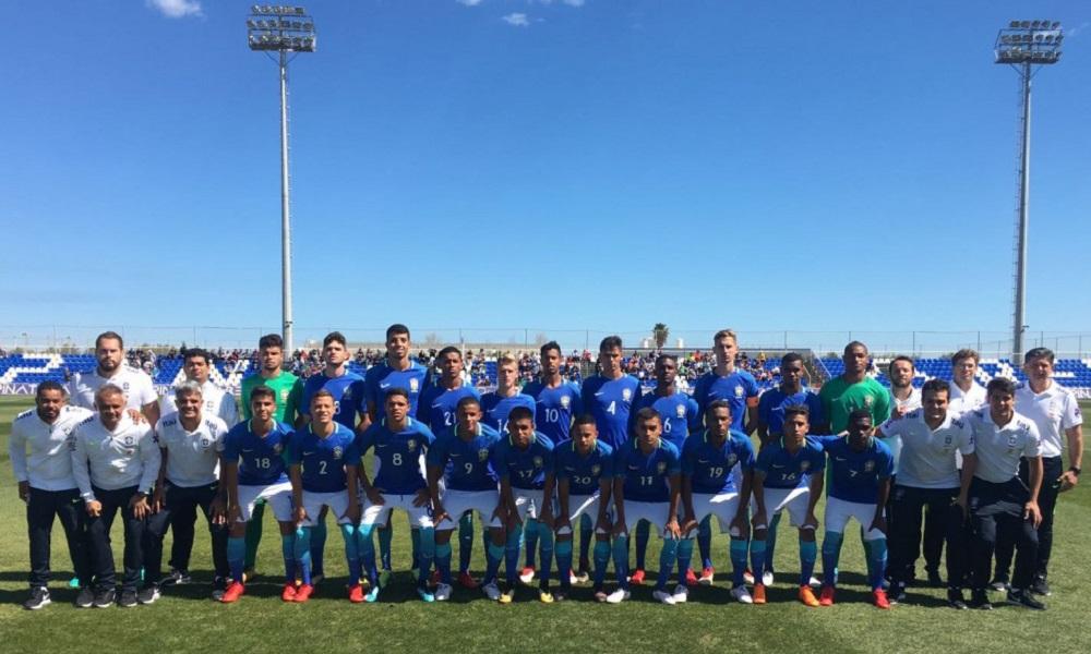 Seleção Brasileira Sub-17 empata com Inglaterra em amistoso