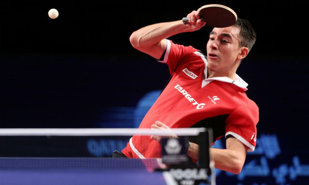 Hugo Calderano é eliminado do torneio de duplas na Alemanha