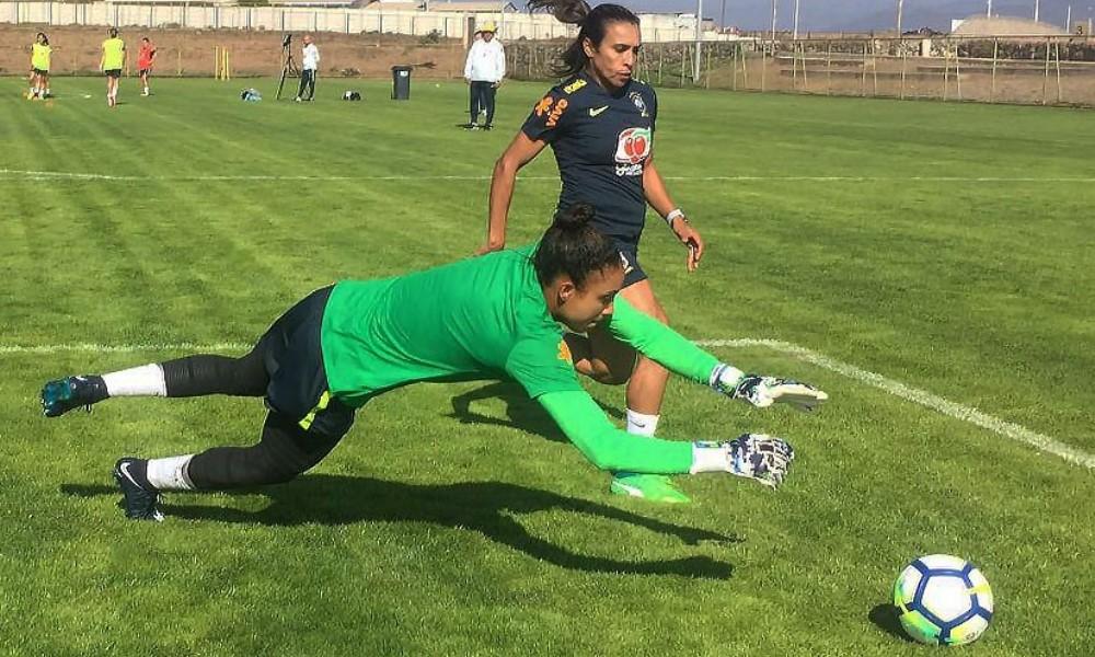 Seleção brasileira faz o primeiro treino visando a Argentina c2c51e2480a12