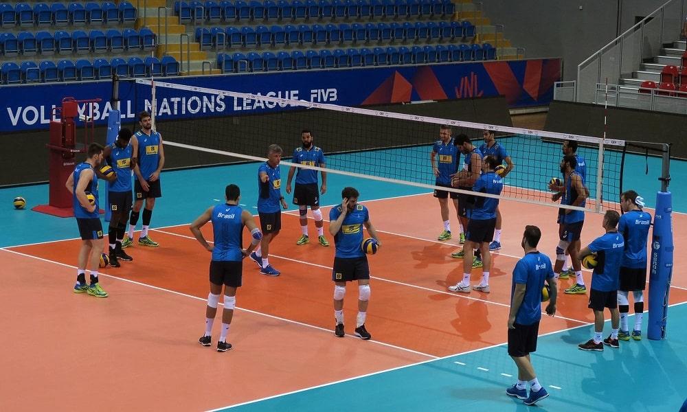Sérvia X Brasil - Liga das Nações de vôlei masculino