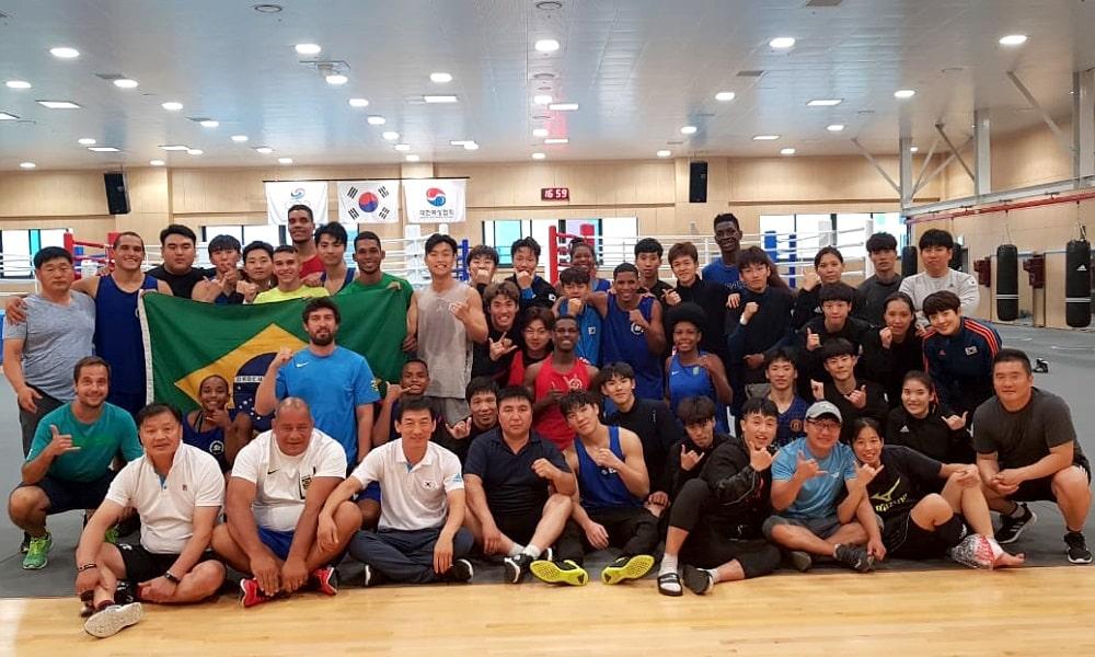 Brasileiros encerram treinamento em conjunto na Coreia do Sul