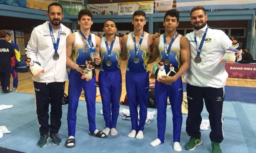 Brasil é prata por equipes e no individual geral masculino