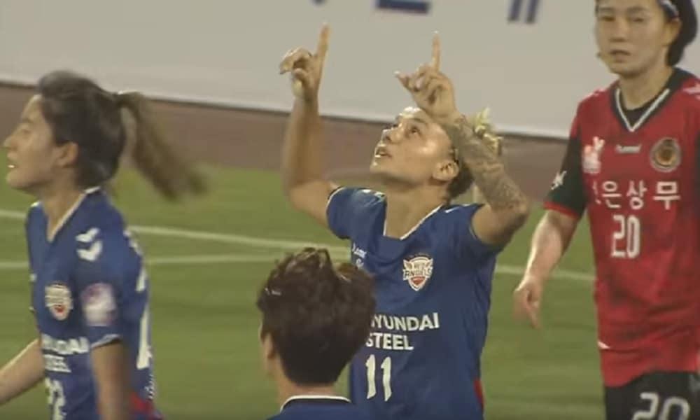 Com dois gols de Thaisinha, Red Angels goleia no Sul-Coreano
