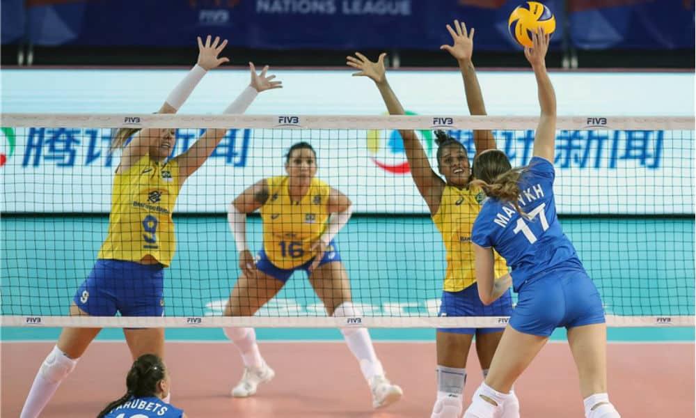 ASSISTA AO VIVO  Brasil x Rússia - Liga das Nações de Vôlei Feminino c1588c1cfacf7