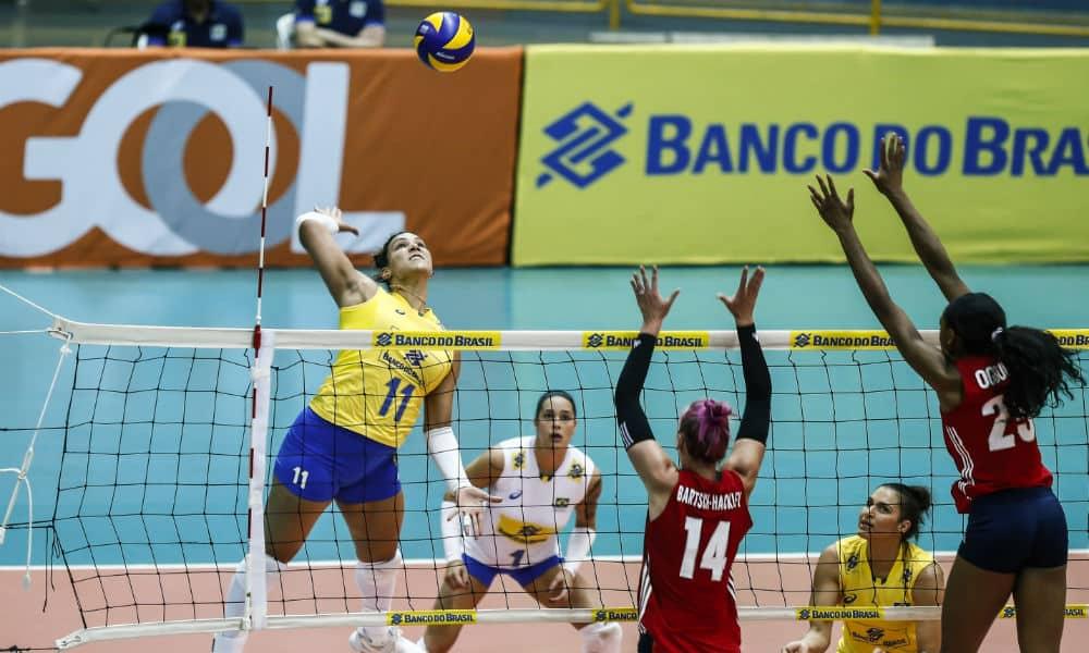 AO VIVO  Brasil x Estados Unidos - 3º amistoso de vôlei feminino f2b8c910997bd