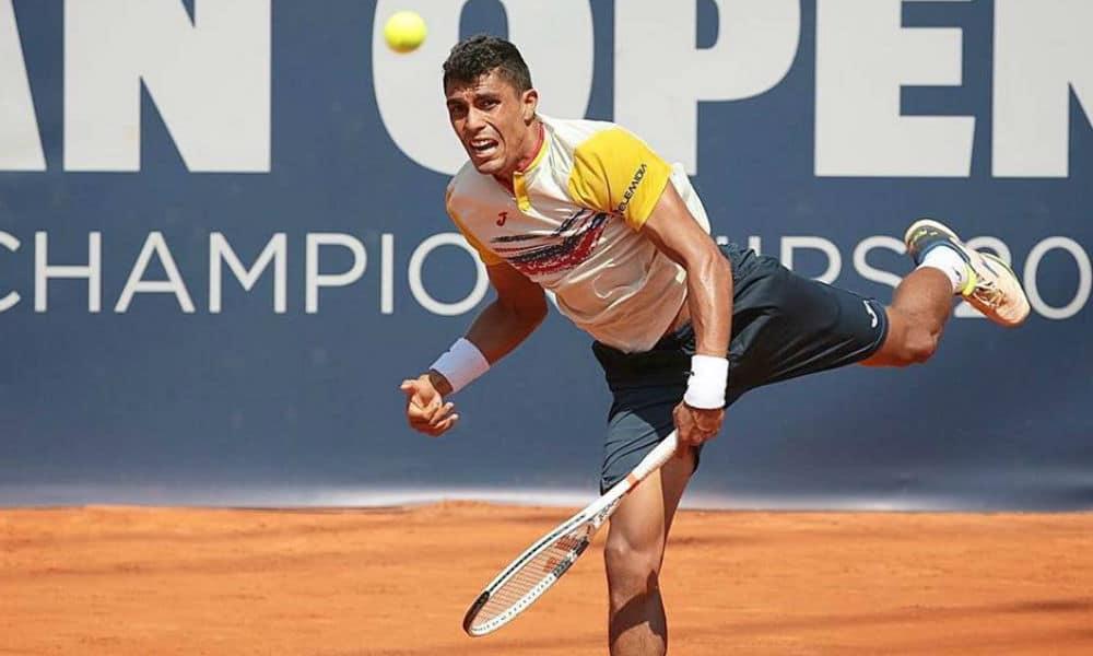 2b7823a868c A sexta-feira reservou bons resultados para o tênis brasileiro no  Challenger de Biella