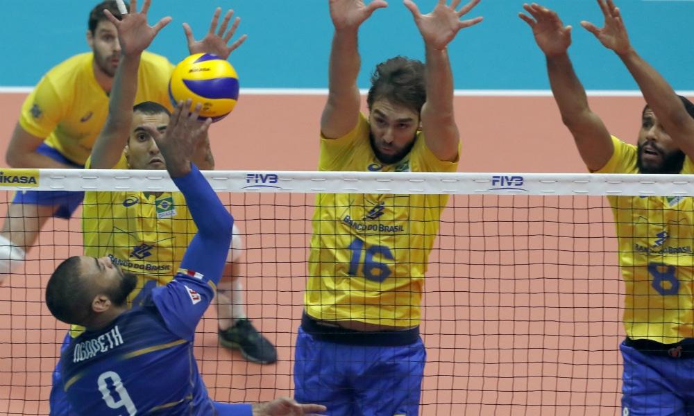 ce4129ba14 ASSISTA AO VIVO  Brasil x França - Mundial de vôlei masculino