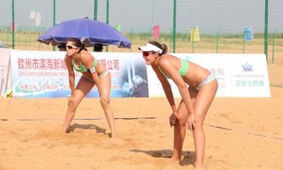 Duplas brasileiras mantêm saldo positivo em Qinzhou