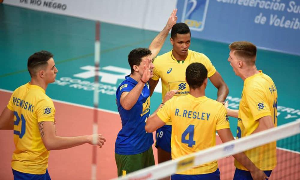 Brasil vence e está na semifinal do Sul-Americano Sub-21 de vôlei 7b223a4c37b6b
