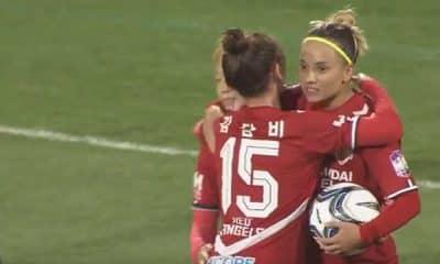 Com gols de Thaisinha, Red Angels empata no Sul-Coreano