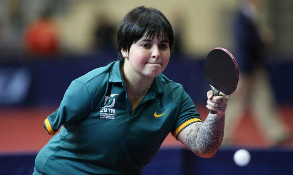Bruna Alexandre, do tênis de mesa paralímpico, também está garantida na Paralimpíada de Tóquio-2020