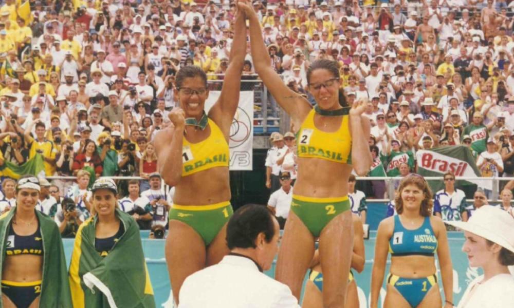 porta-bandeira do Brasil nos Jogos Olímpicos em Sydney-2000
