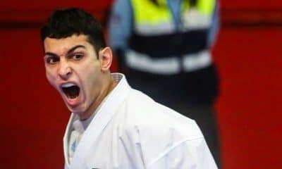 Vinicius Figueira leva prata na etapa premier league de Dubai de caratê