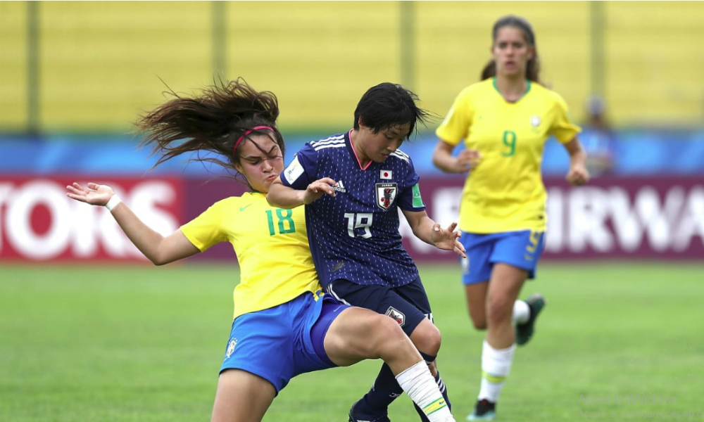 Divulgação FIFA. A Seleção Feminina Sub-17 estreou empatando sem gols ... 0443250205f1e