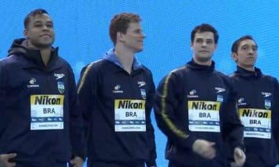 Brasil estreia no Mundial com bronze no revezamento 4x100m