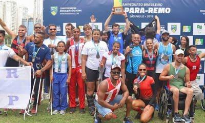 Esporte Clube Pinheiros vence o Brasileiro de Para-Remo 2018