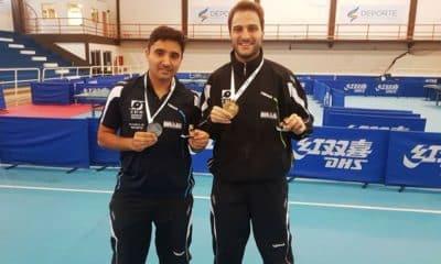 Carlos Carbinari e Luiz Felipe Manara, do tênis de mesa paralímpico