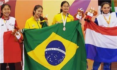 Wanessa Wu ganha quatro ouros nos Sul-Americanos Escolares
