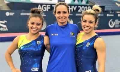 Alice Gomes e Camilla Gomes, da ginástica de trampolim