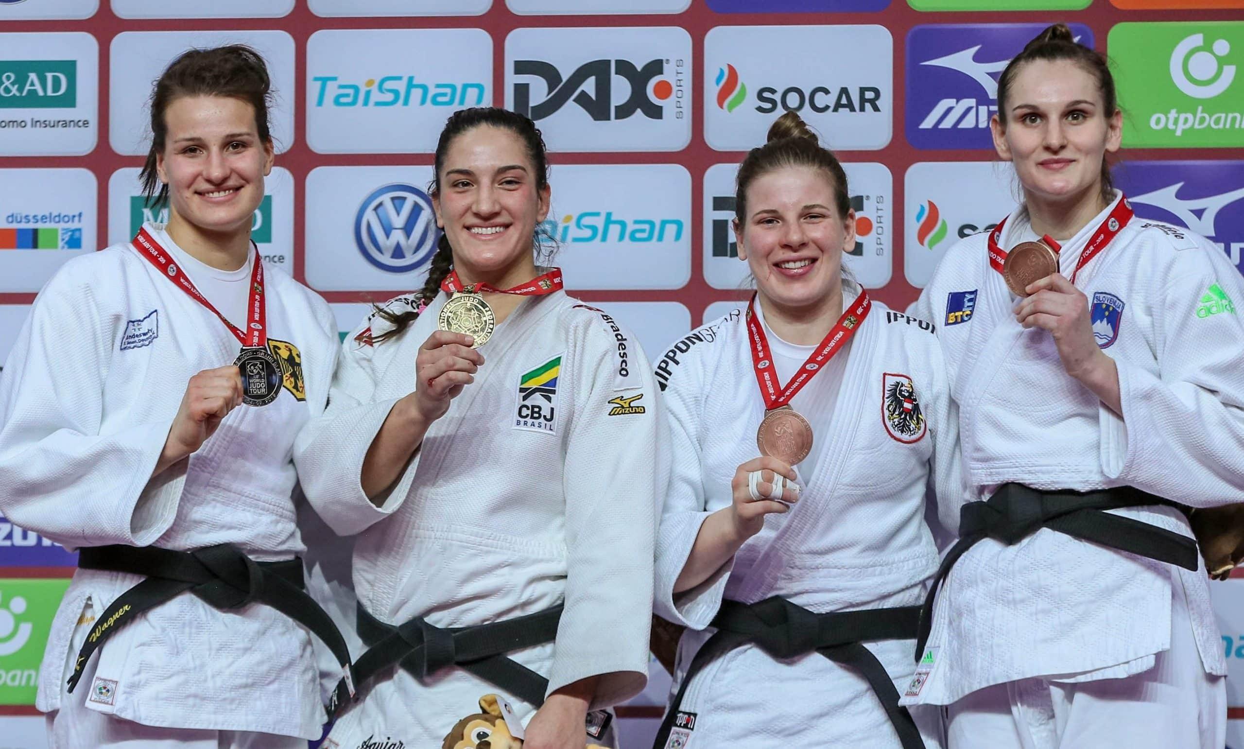 Mayra Aguiar, da seleção brasileira, foi campeã do Grand Slam de Dusseldorf de judô em 2019