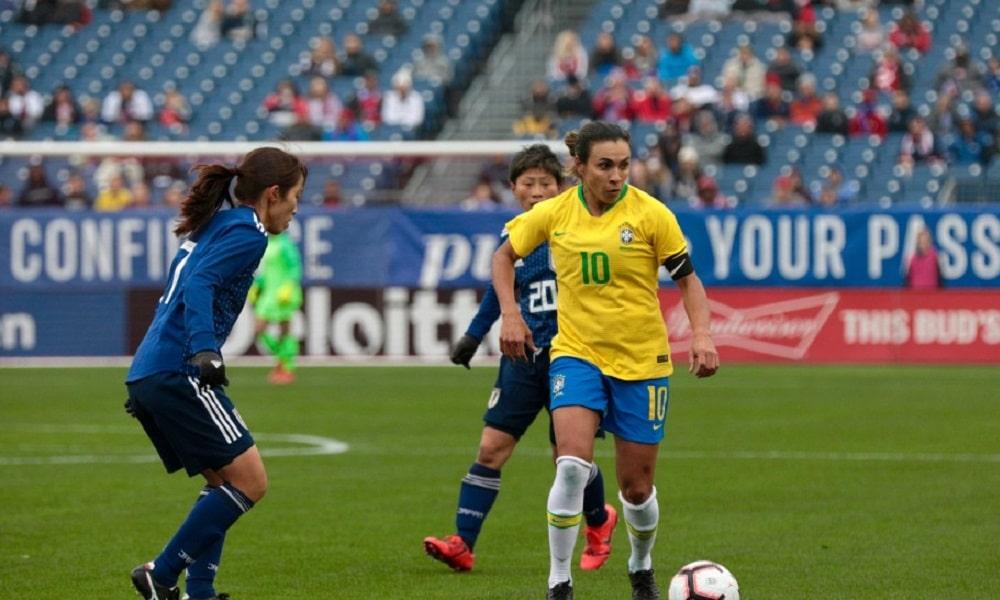 Brasil sofre no 2º tempo e perde para o Japão na She Believes Cup