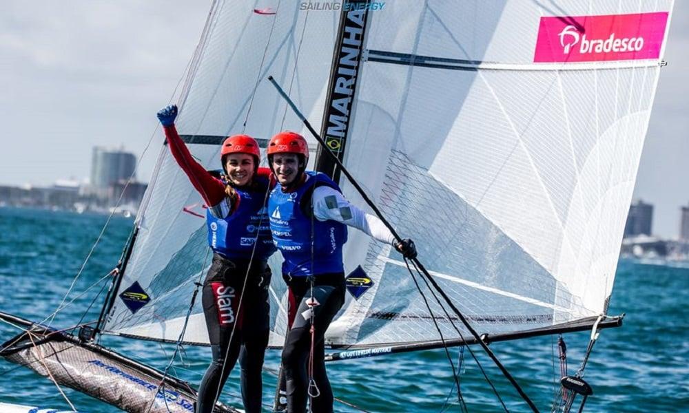 Gabriela Nicolino e Samuel Albrecht - Copa do Mundo de Miami - Vela - Foto Sailing Energy