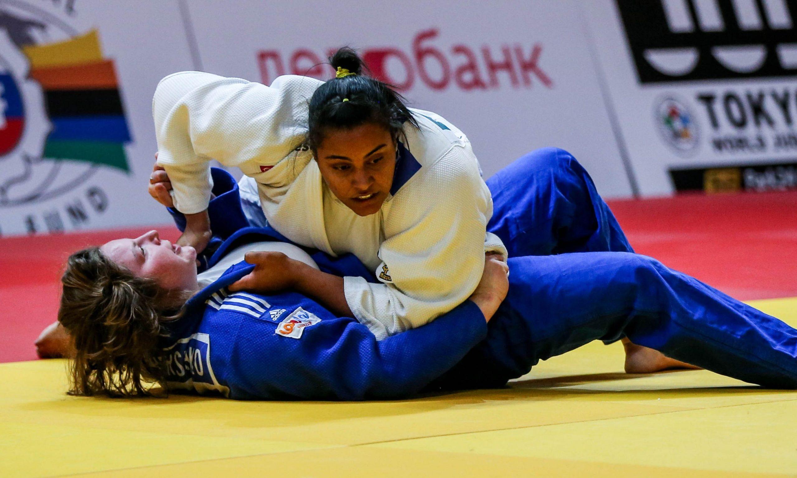 Maria Suelen Altheman da seleção brasileira de judô