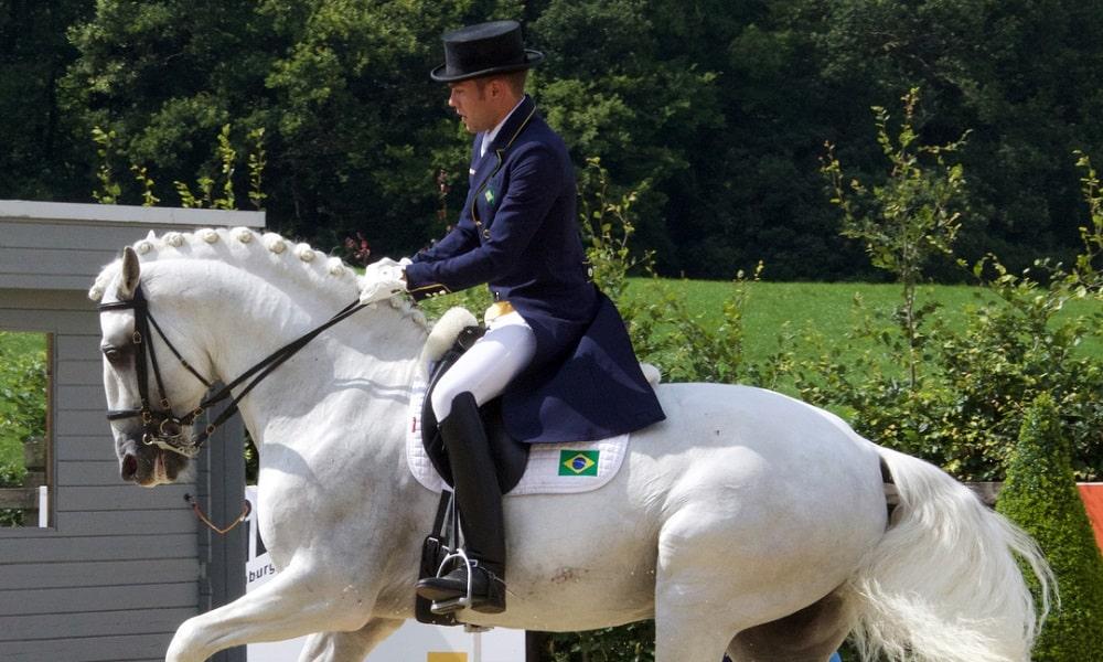 Saiba mais sobre João Victor Oliva, cavaleiro brasileiro do hipismo adestramento nos Jogos Olímpicos de Tóquio 2020 com seu cavalo Escorial Horsecampline