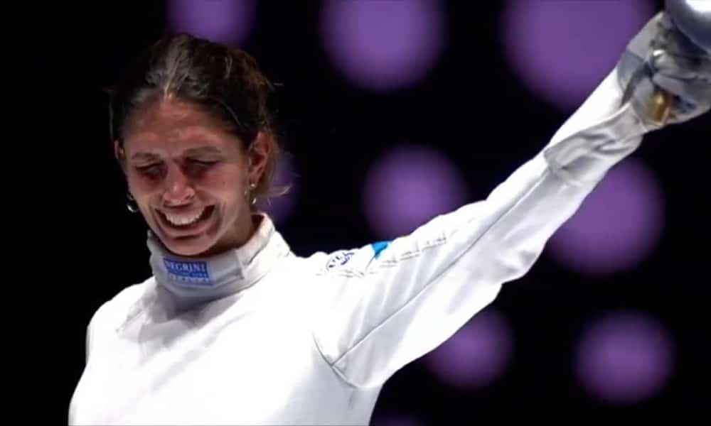Atleta de esgrima Nathalie Moellhausen