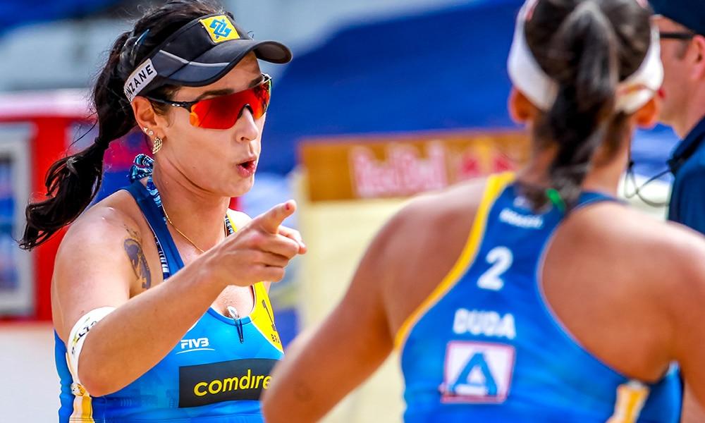 Ágatha e Duda garantiram a liderança do grupo F do Mundial de vôlei de praia