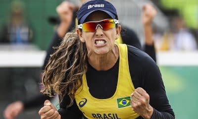 Angela, do vôlei de praia, nos Jogos Pan-Americanos
