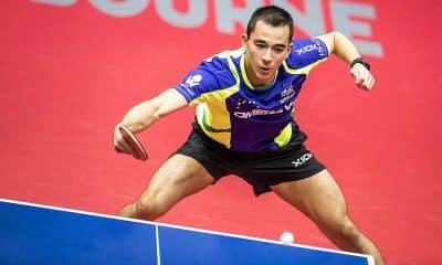 Hugo Calderano no Aberto da Austrália de tênis de mesa