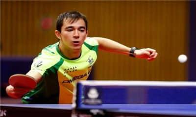 Hugo Calderano no tênis de mesa